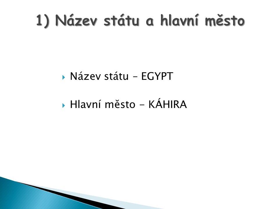 1) Název státu a hlavní město