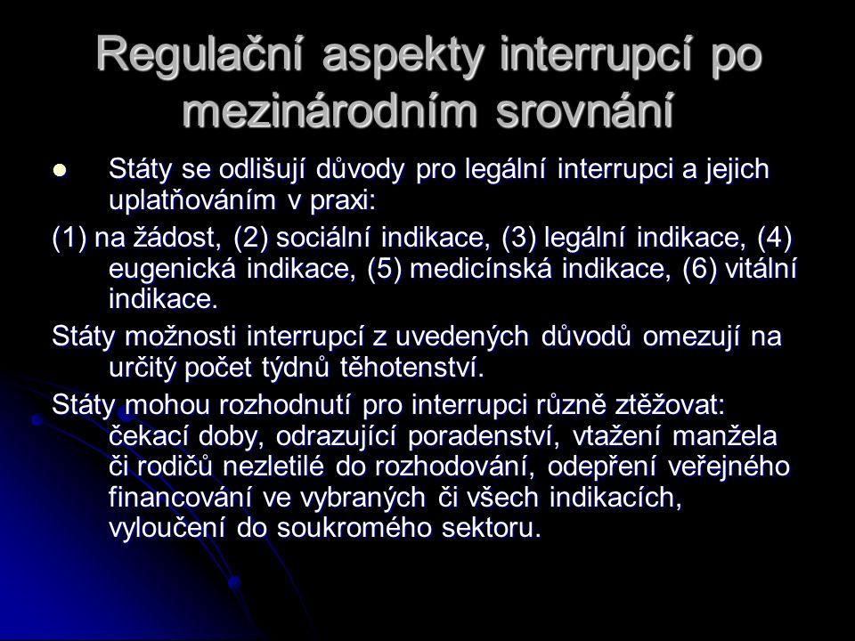 Regulační aspekty interrupcí po mezinárodním srovnání