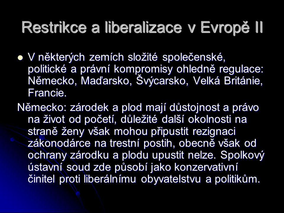 Restrikce a liberalizace v Evropě II