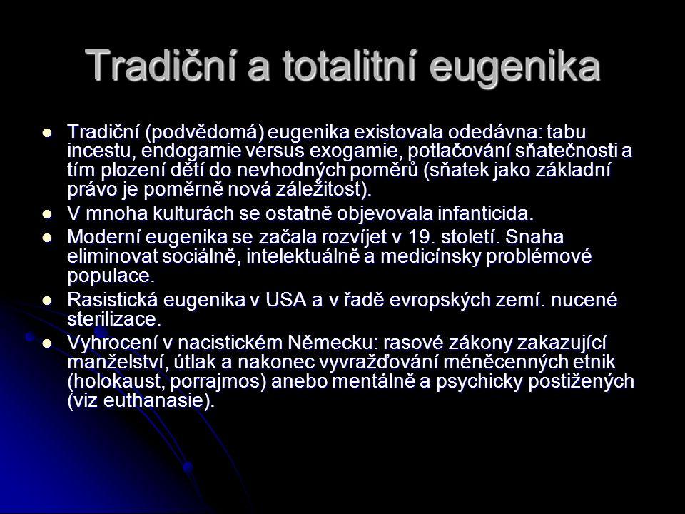 Tradiční a totalitní eugenika