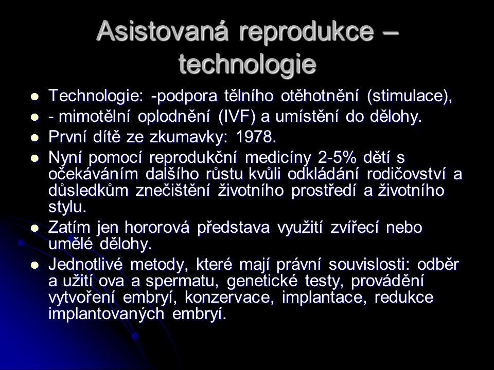 Asistovaná reprodukce – technologie