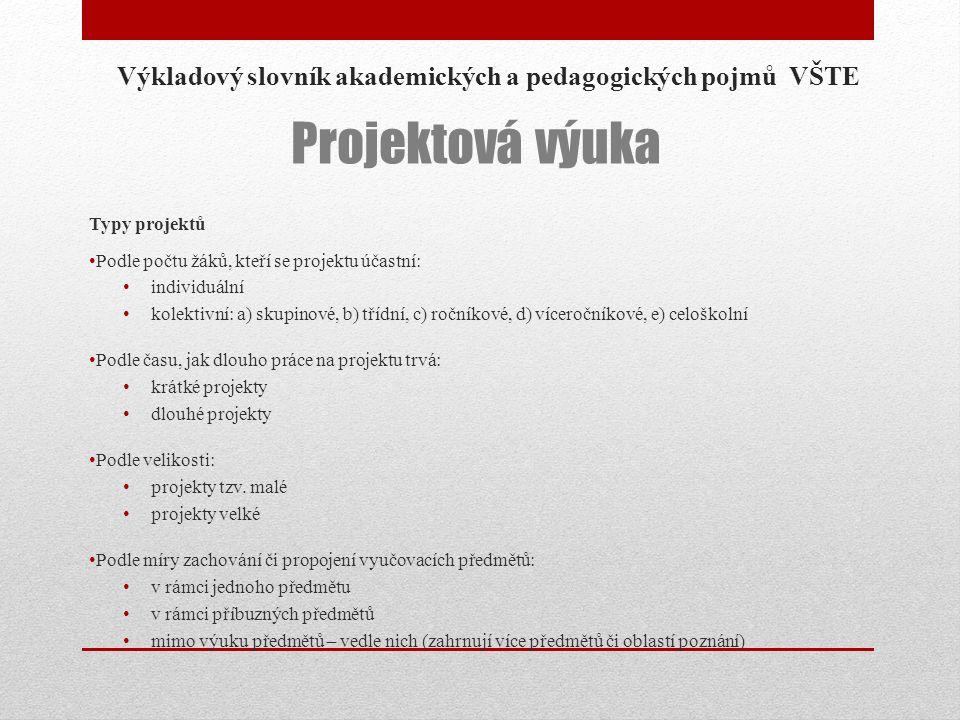 Výkladový slovník akademických a pedagogických pojmů VŠTE
