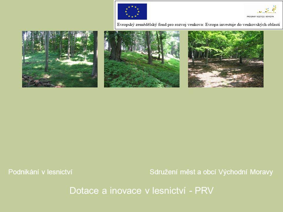 Dotace a inovace v lesnictví - PRV