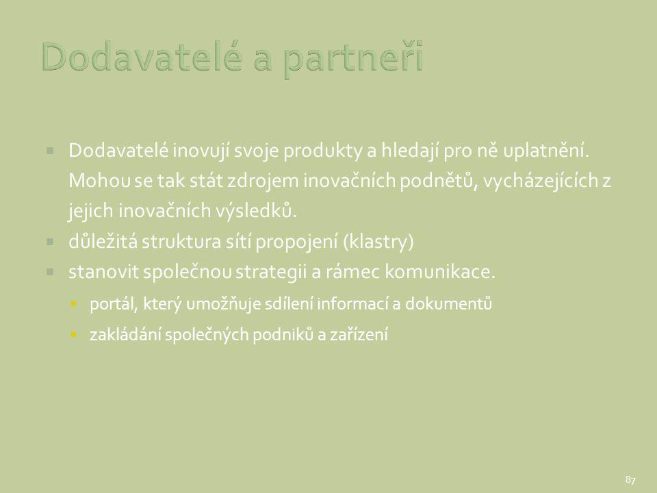 Dodavatelé a partneři