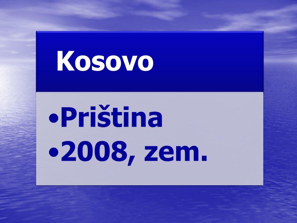Kosovo Priština 2008, zem.