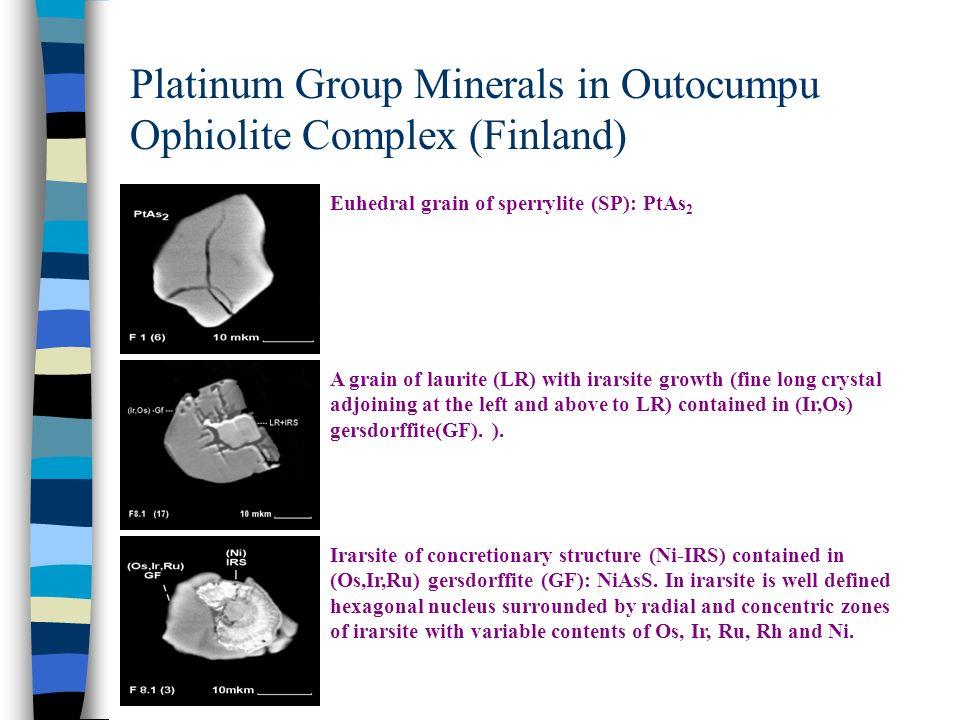 Platinum Group Minerals in Outocumpu Ophiolite Complex (Finland)
