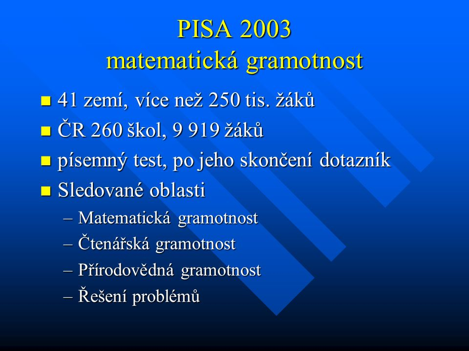 PISA 2003 matematická gramotnost