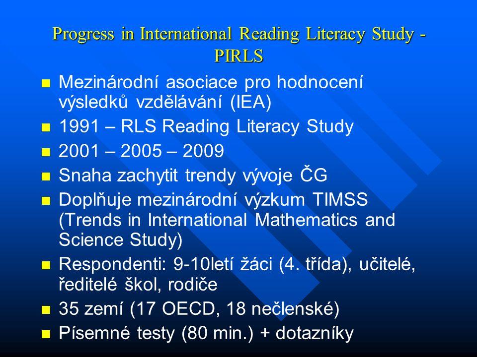 Progress in International Reading Literacy Study - PIRLS
