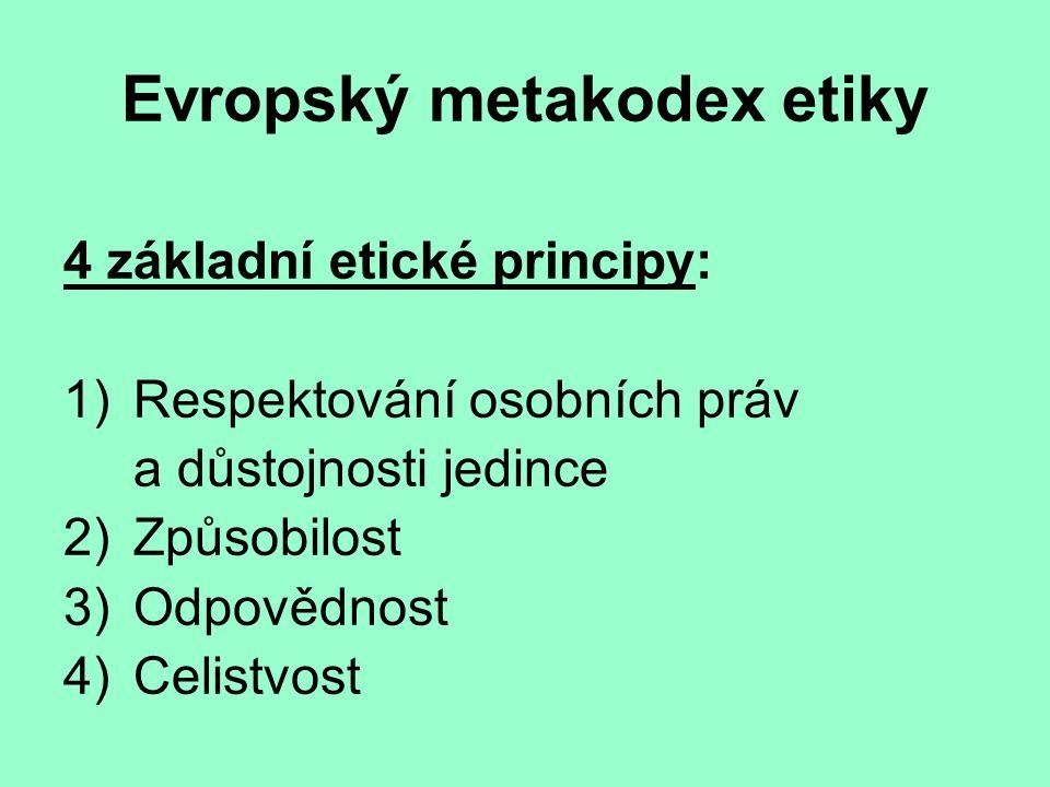 Evropský metakodex etiky