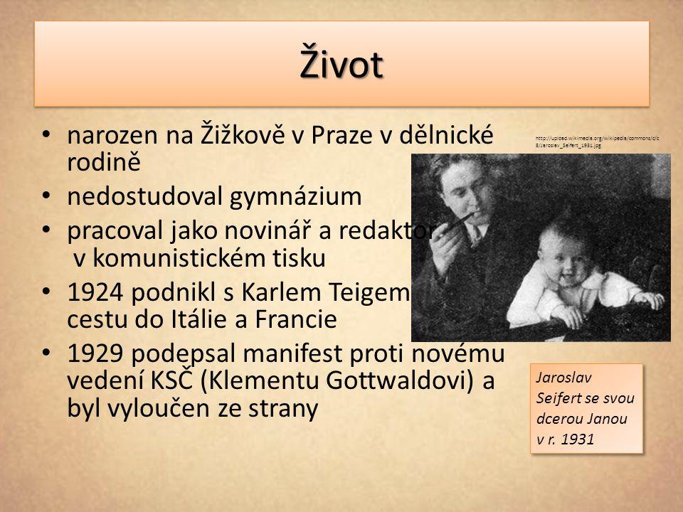 Život narozen na Žižkově v Praze v dělnické rodině