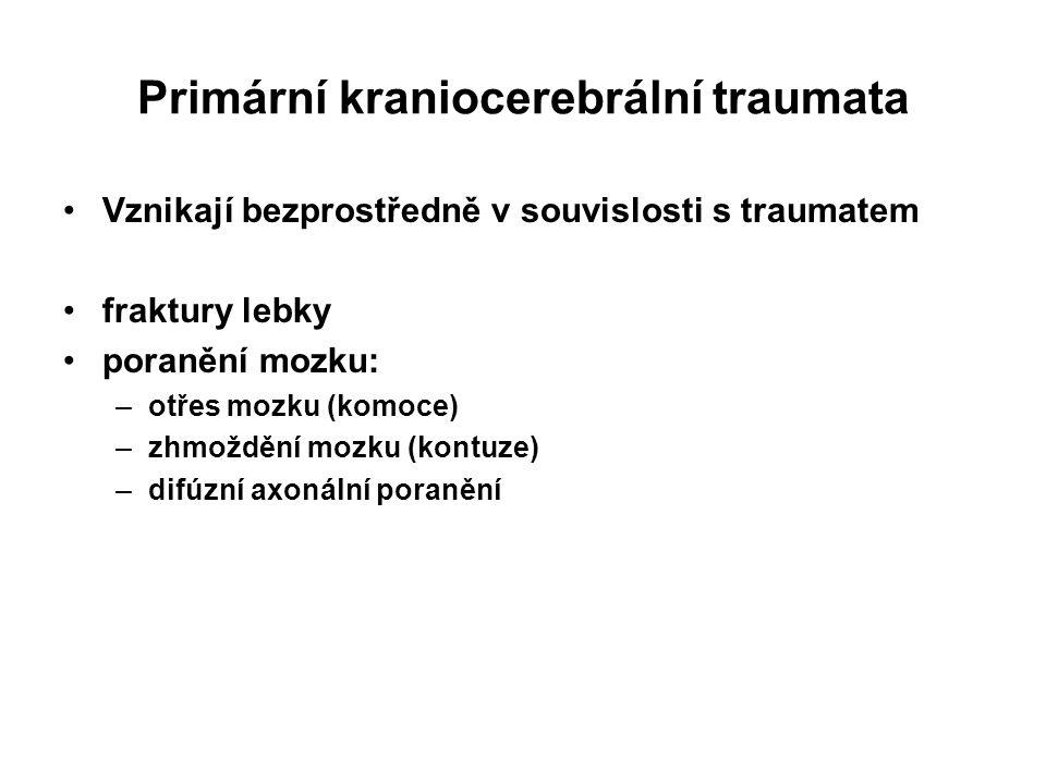Primární kraniocerebrální traumata