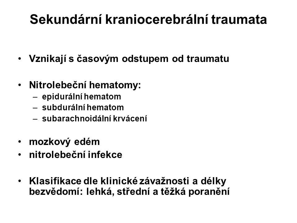 Sekundární kraniocerebrální traumata