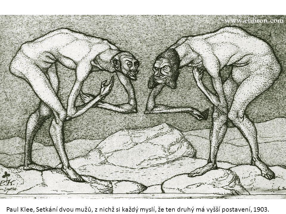 Etika veřejné správy Paul Klee, Setkání dvou mužů, z nichž si každý myslí, že ten druhý má vyšší postavení, 1903.