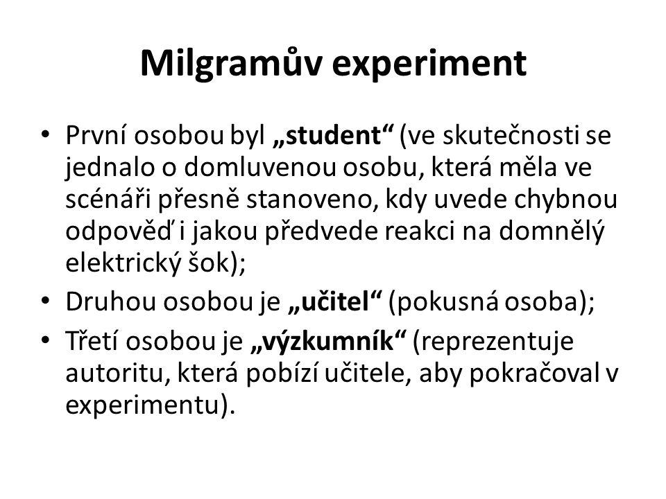 Milgramův experiment