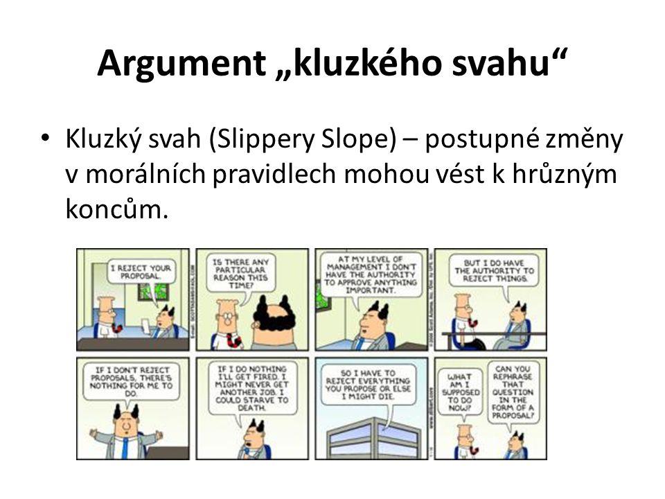 "Argument ""kluzkého svahu"
