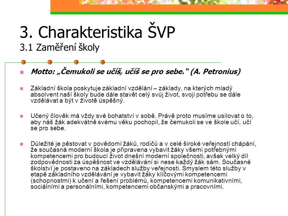 3. Charakteristika ŠVP 3.1 Zaměření školy