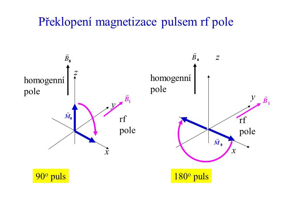 Překlopení magnetizace pulsem rf pole