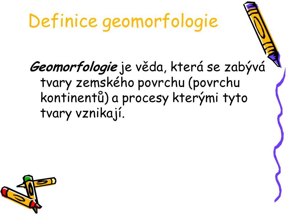 Definice geomorfologie