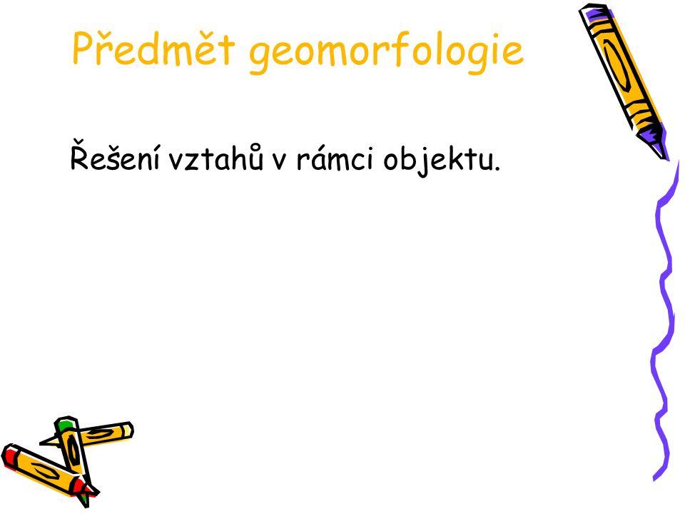 Předmět geomorfologie