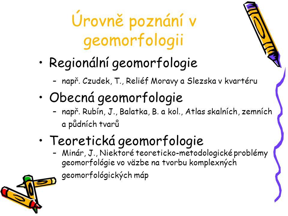 Úrovně poznání v geomorfologii