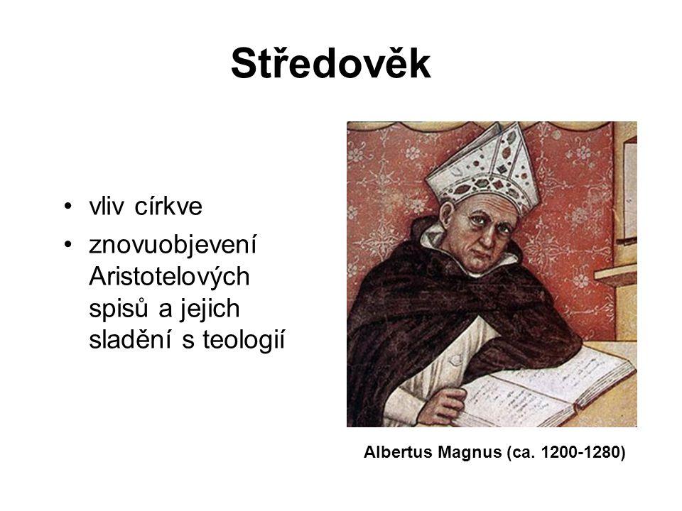 Středověk vliv církve. znovuobjevení Aristotelových spisů a jejich sladění s teologií.