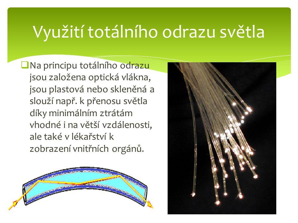 Využití totálního odrazu světla