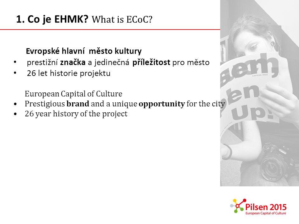 1. Co je EHMK What is ECoC Evropské hlavní město kultury