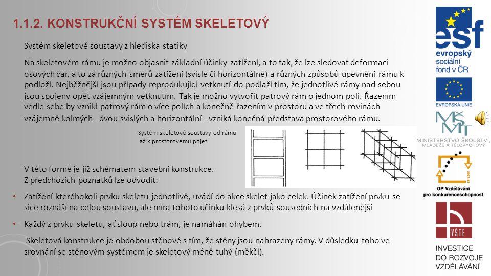1.1.2. Konstrukční systém skeletový