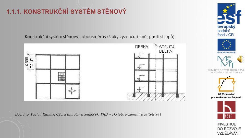 1.1.1. Konstrukční systém stěnový
