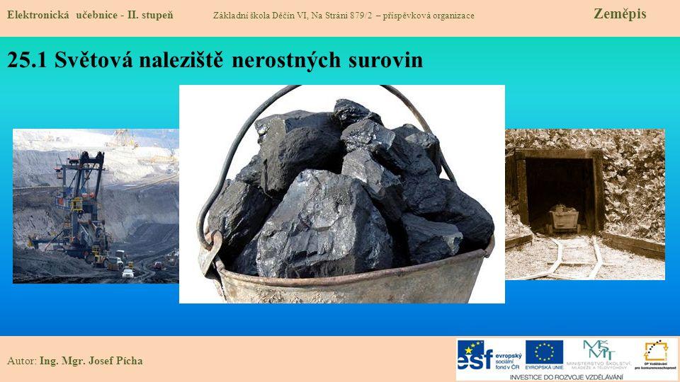 25.1 Světová naleziště nerostných surovin