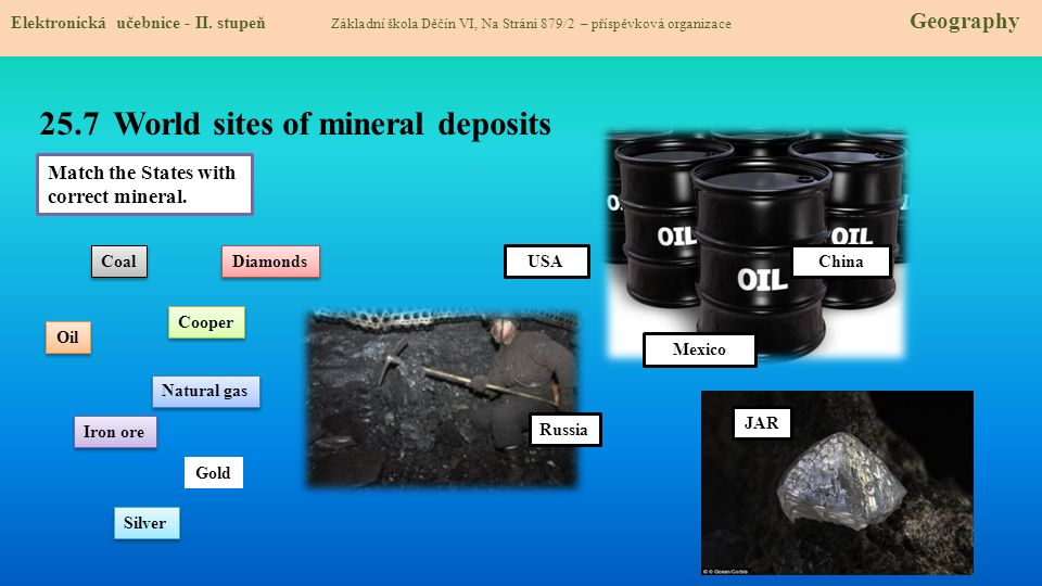 25.7 World sites of mineral deposits