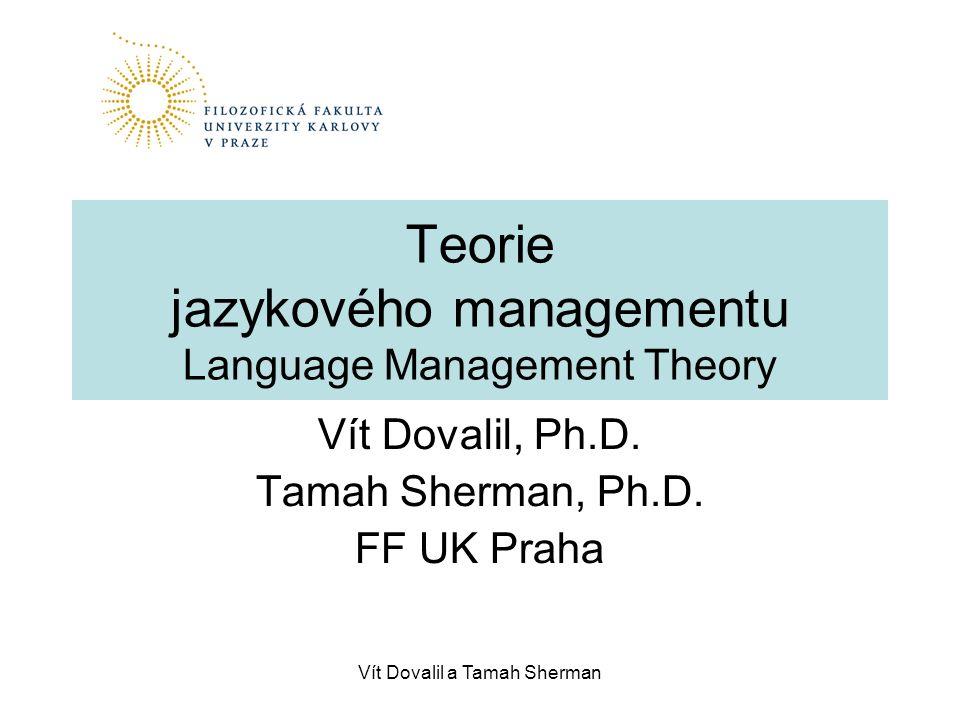 Teorie jazykového managementu Language Management Theory