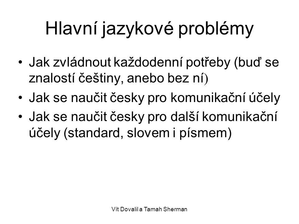 Hlavní jazykové problémy