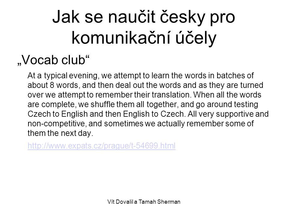 Jak se naučit česky pro komunikační účely