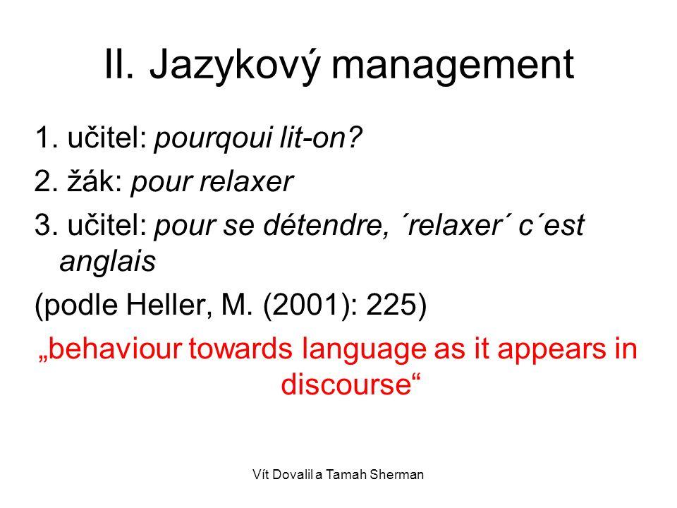 II. Jazykový management