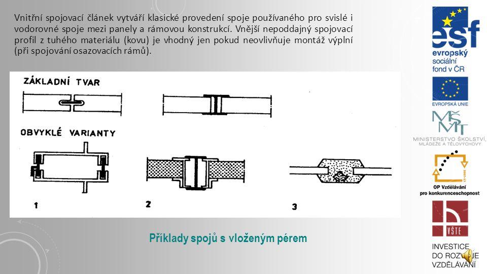 Příklady spojů s vloženým pérem