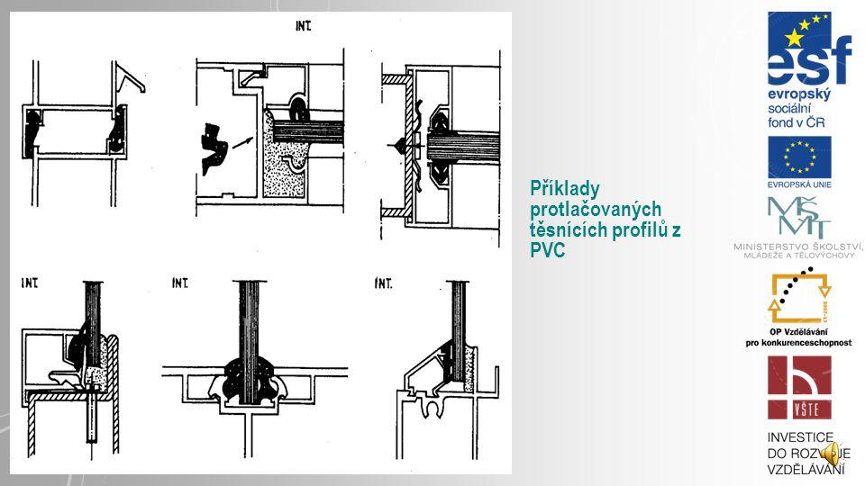 Příklady protlačovaných těsnících profilů z PVC