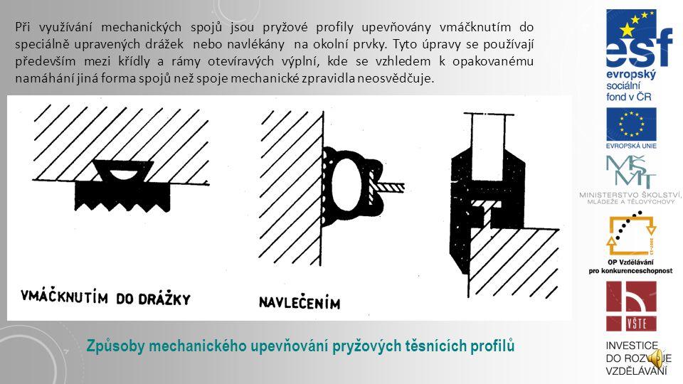 Způsoby mechanického upevňování pryžových těsnících profilů