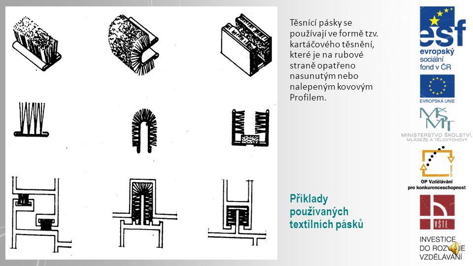 Příklady používaných textilních pásků