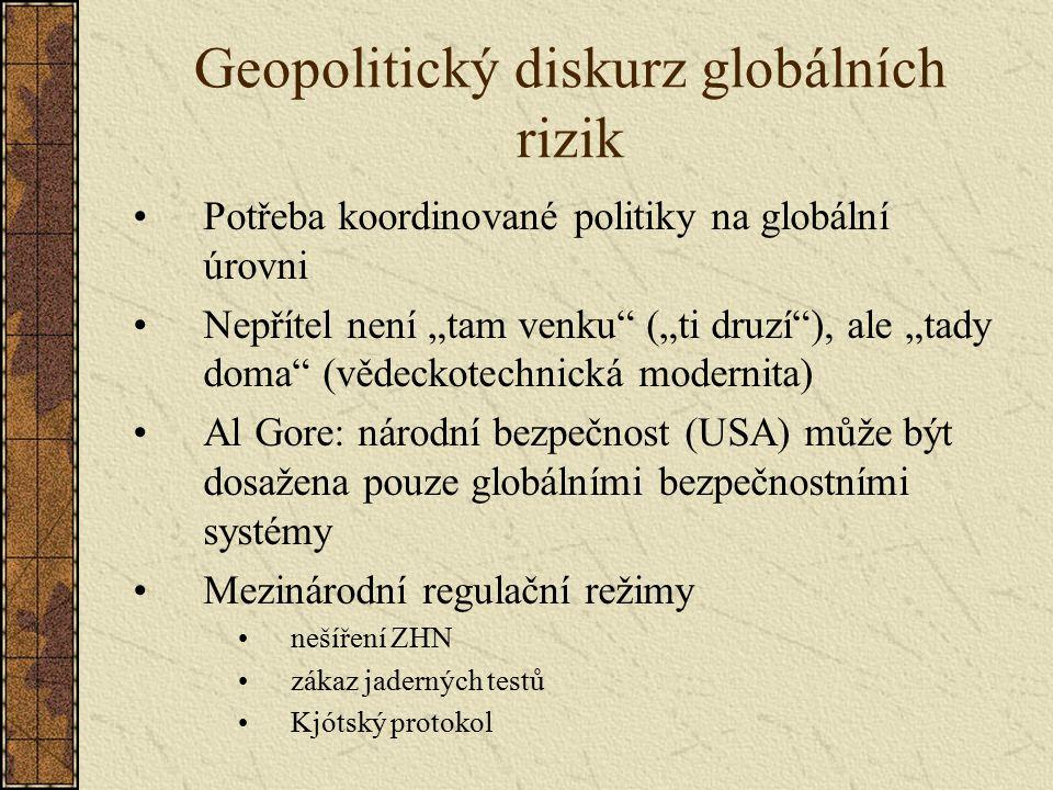 Geopolitický diskurz globálních rizik