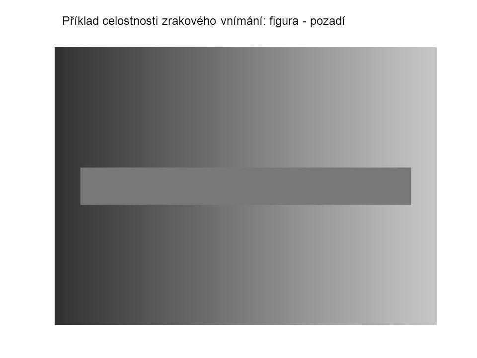 Příklad celostnosti zrakového vnímání: figura - pozadí