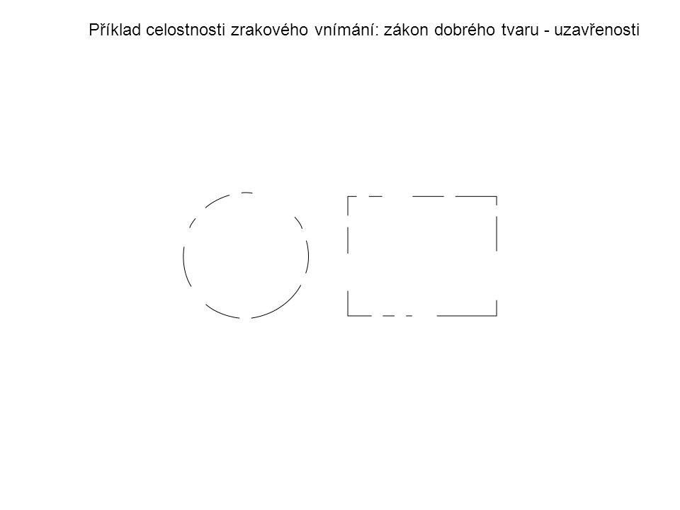 Příklad celostnosti zrakového vnímání: zákon dobrého tvaru - uzavřenosti