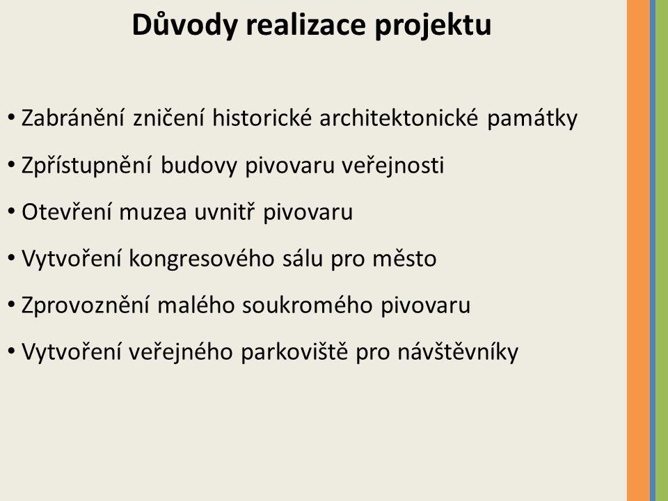 Důvody realizace projektu