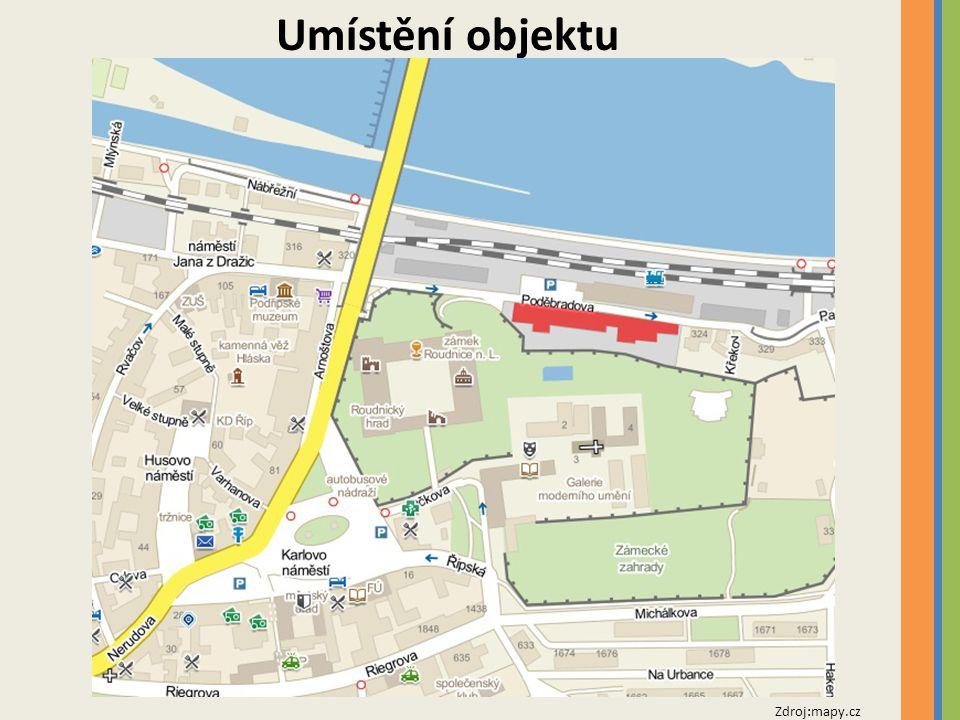 Umístění objektu Zdroj:mapy.cz