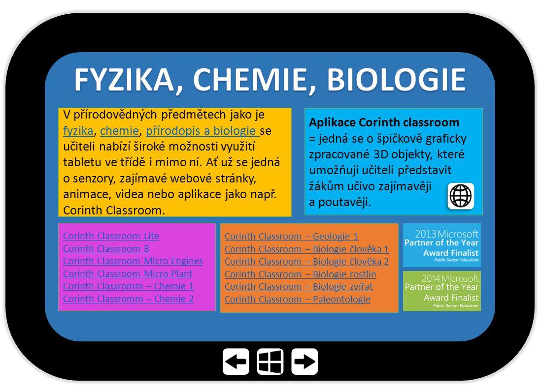 FYZIKA, CHEMIE, BIOLOGIE
