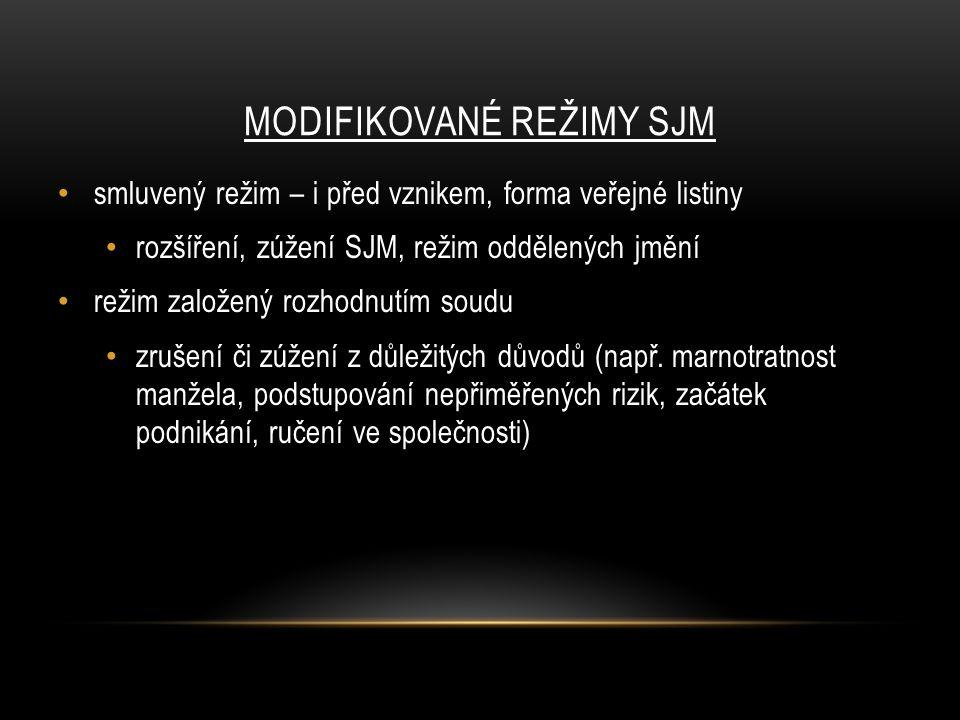 modifikované režimy SJM