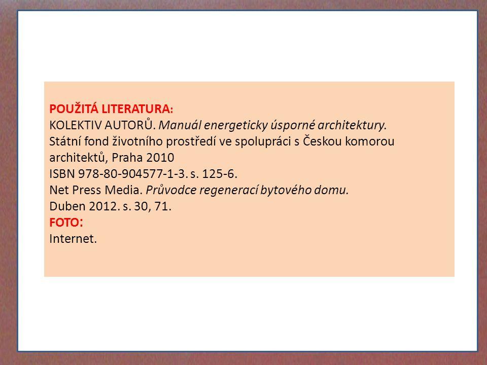 KOLEKTIV AUTORŮ. Manuál energeticky úsporné architektury.