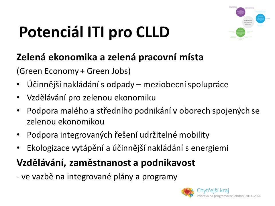 Potenciál ITI pro CLLD Zelená ekonomika a zelená pracovní místa