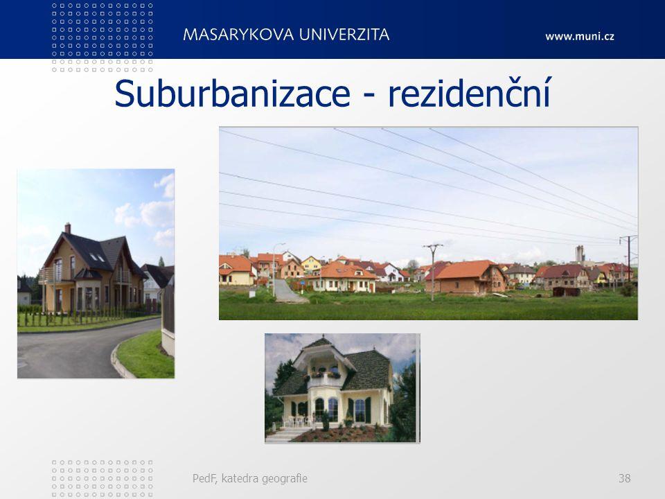 Suburbanizace - rezidenční