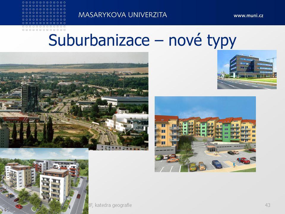 Suburbanizace – nové typy